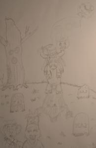 little headless horseman drawing