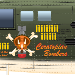 nose art ceratopsian bombers