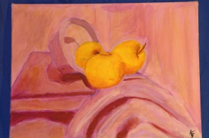complementary color still life painting