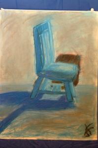 blue chair pastel