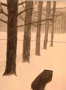 tree drawing ink wash