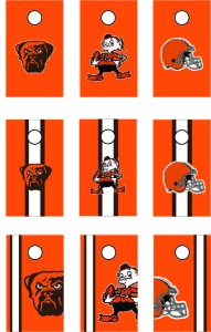 browns corn-hole boards
