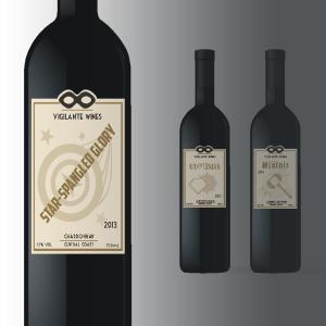 wine labels mock up
